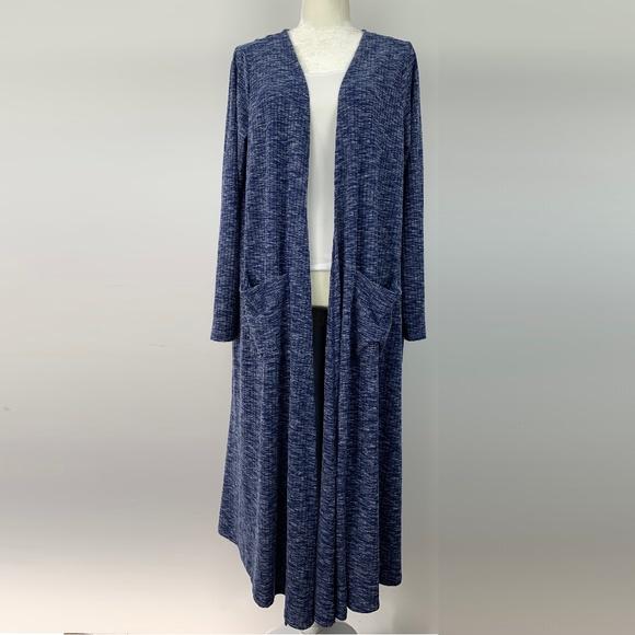 79f51832b9b6f4 LuLaRoe Sweaters - LuLaRoe Sarah Cardigan Duster Sweater Blue Large